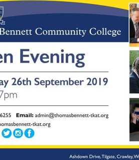 Thomas Bennett Community College Open Evening