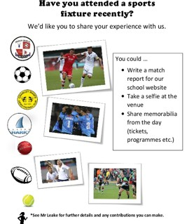 Have you attended a sports fixture recently?