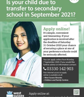 Is your child due to transfer to secondary school in September 20201