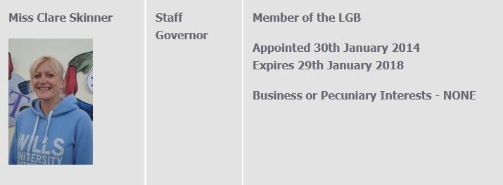Clare skinner governor resignation