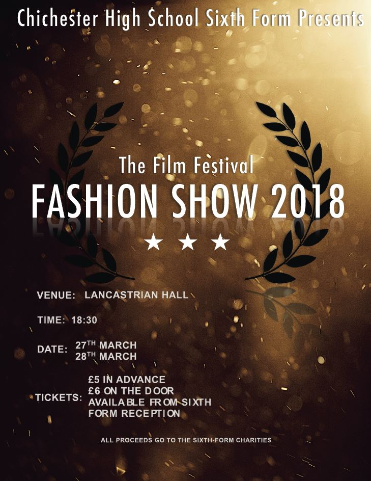 Poster for fashion show