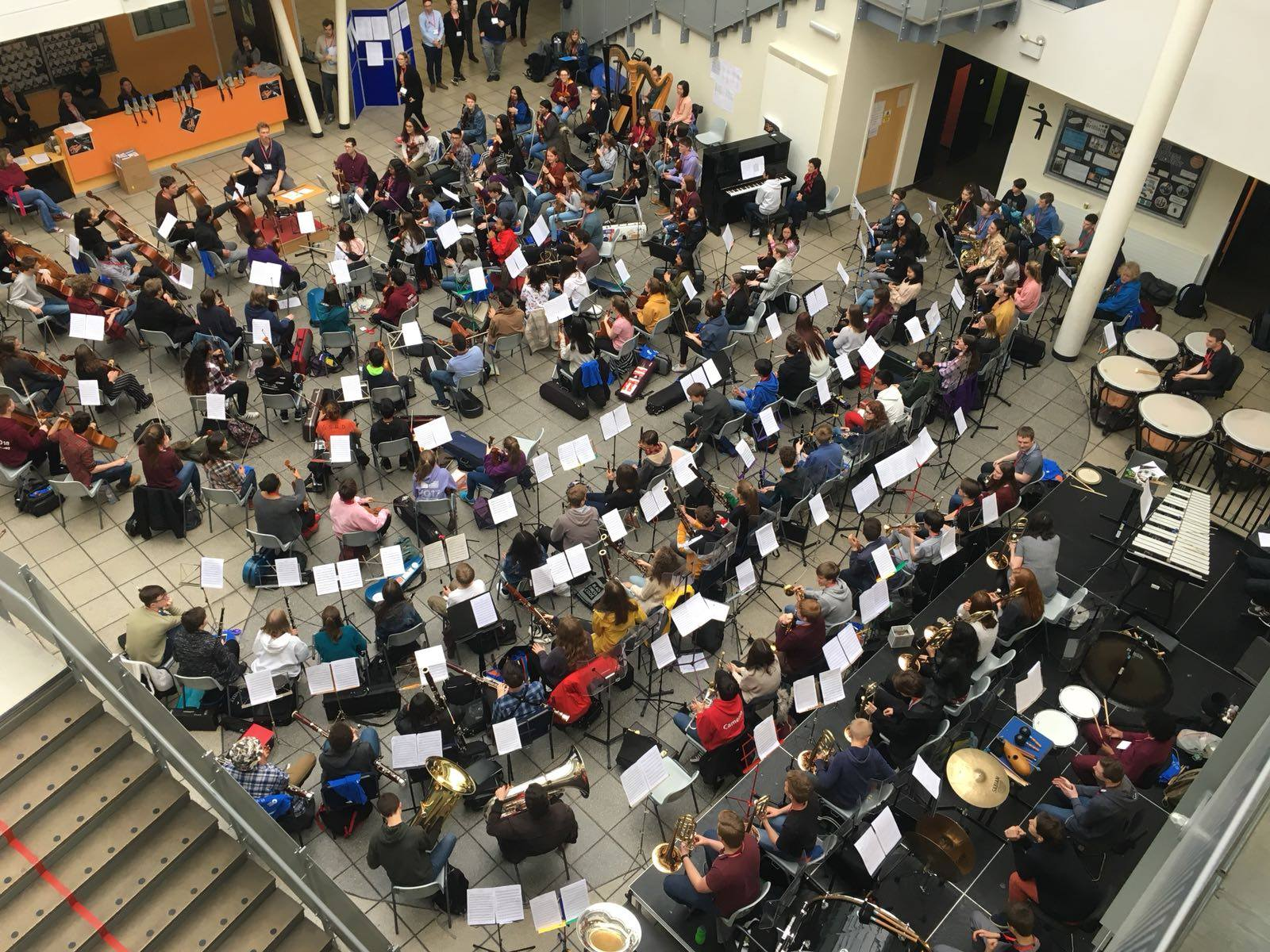 Our #NYOInspire Day Orchestra   164 teenagers made up of musicians from NYO Inspire, NYO Orchestra musicians as well as a selection from YOLA   LA Phil's yo