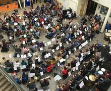 Our #NYOInspire Day Orchestra   164 teenagers made up of musicians from NYO Inspire, NYO Orchestra musicians as well as a selection from YOLA   LA Phil