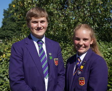 Head boy josh loosely and head girl rose gibbens