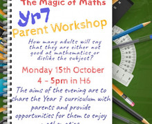 15.10.18 Yr7 Magic of Maths includes room no