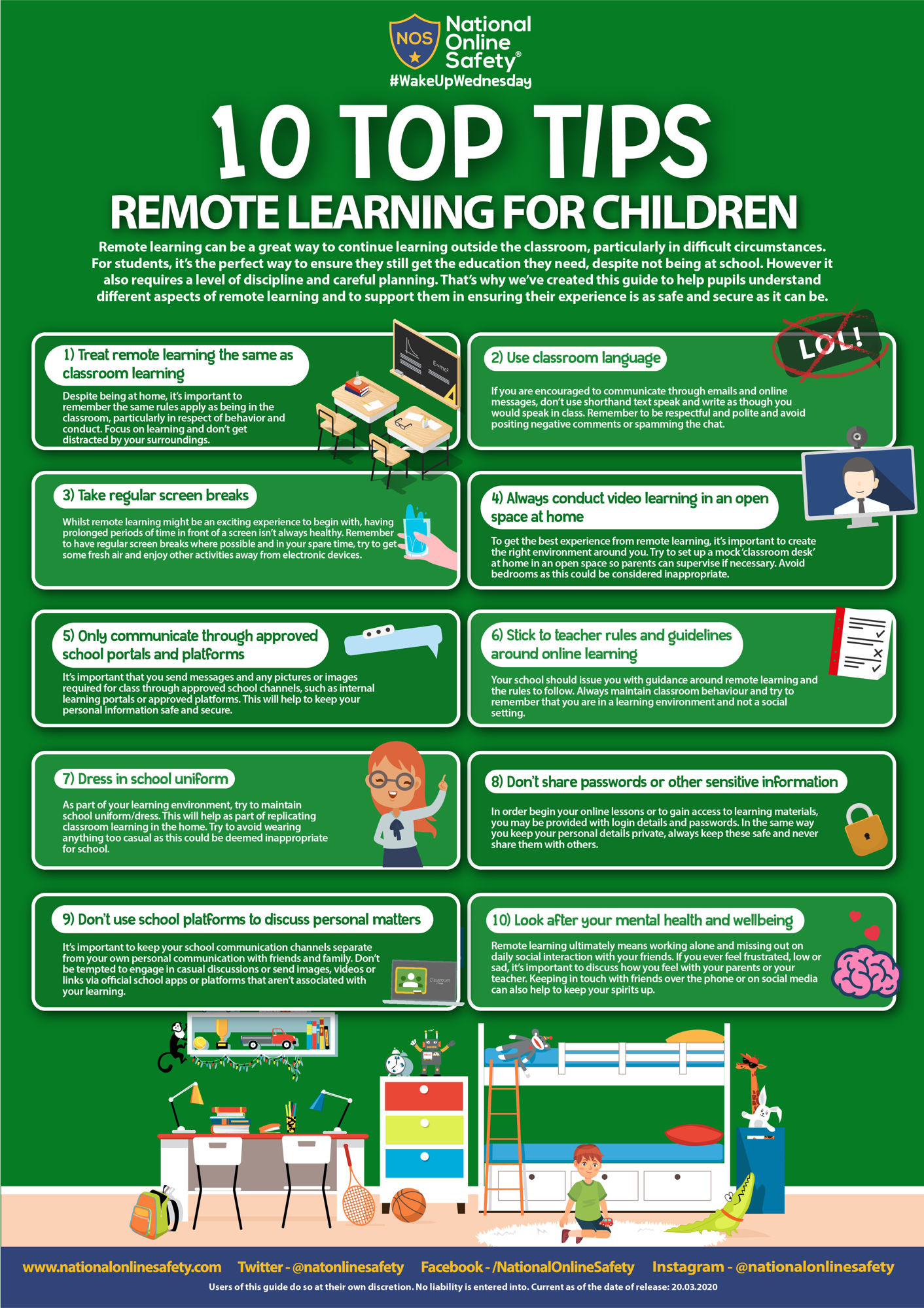Top tips for remote learning children