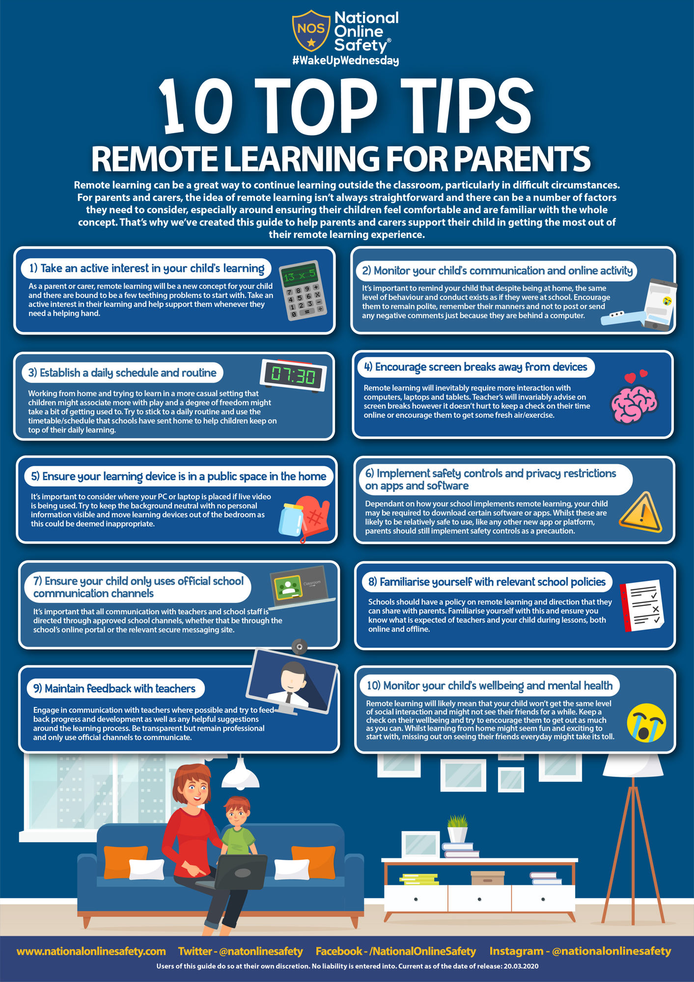 Top tips remote learning for parents