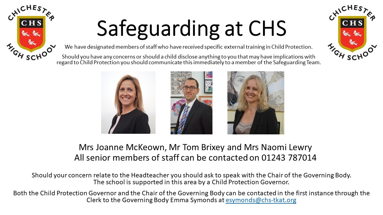 Safeguarding at chs 202021