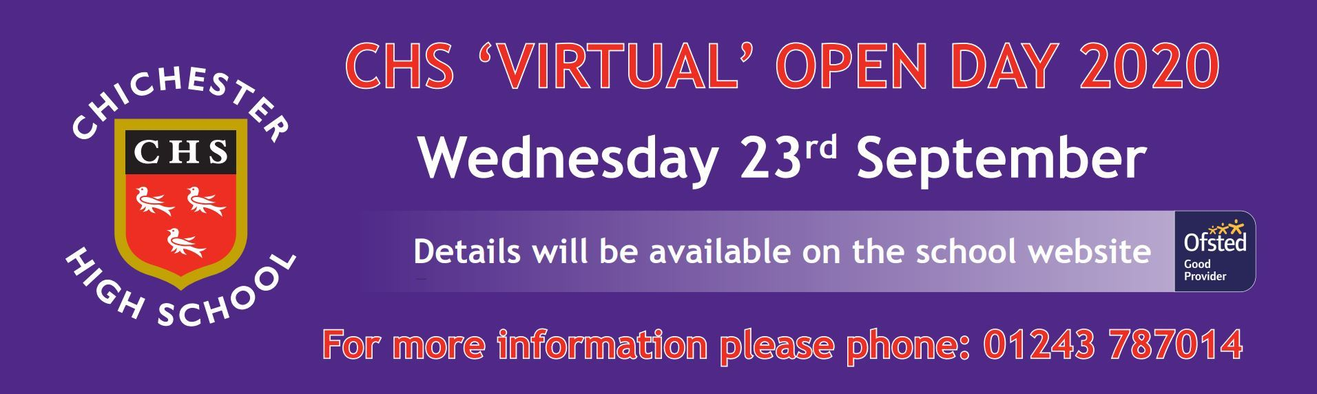 Open day banner 2020