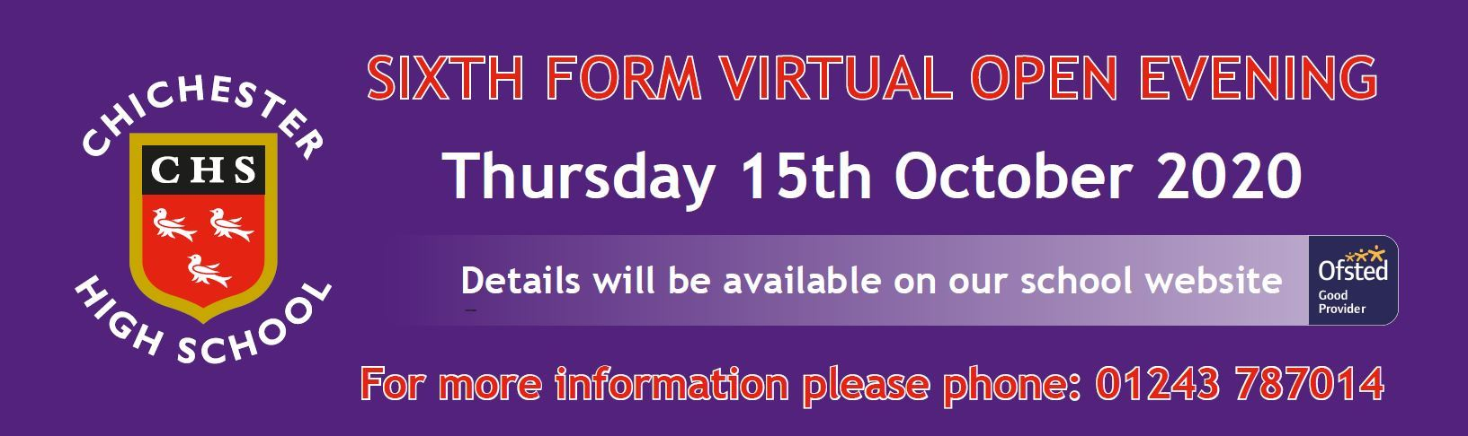 Sixth Form Virtual Open Evening 2020