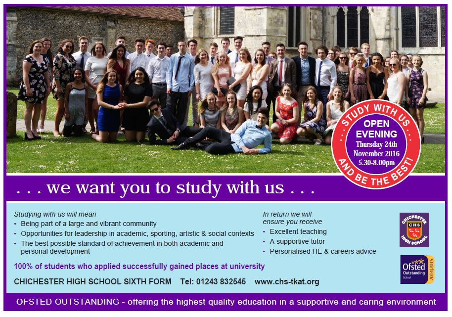 Sixth form advert 2016