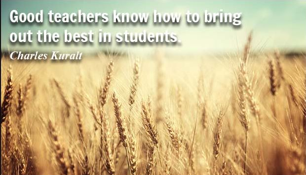 Good teachers know how to bring out the best in students