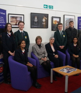 Liz Harrison, Deputy CEO of TKAT, visits CHS