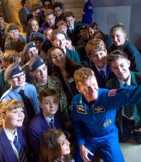 Tim Peake at The Novium in Chichester