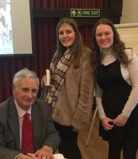 Yr 12 students meet Holocaust Survivor Steve Frank