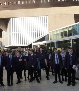 CHS visit Chichester Festival Theatre to see Running Wil