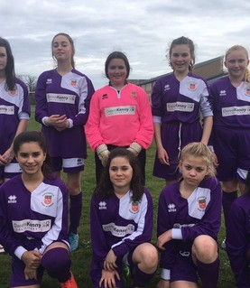 Girls U13 football