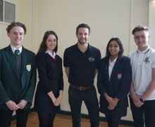 Lewis Mason and our Yr11 Senior Prefects