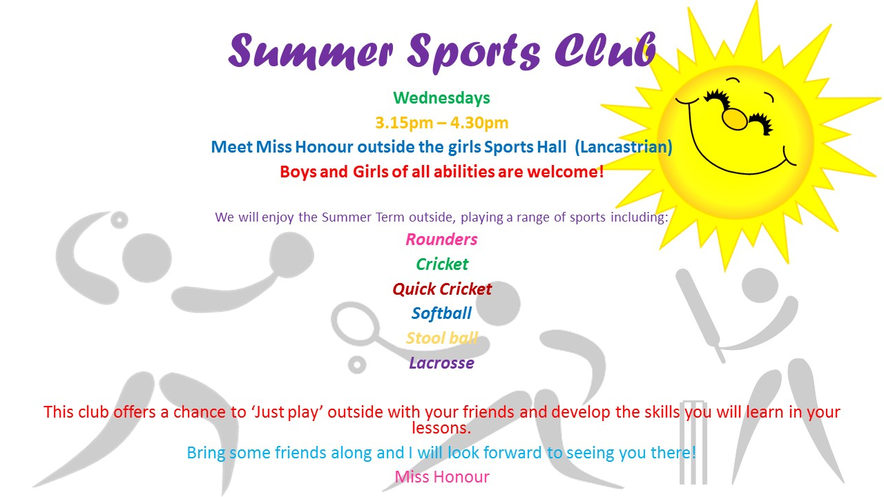 Summer sports club poster from cho