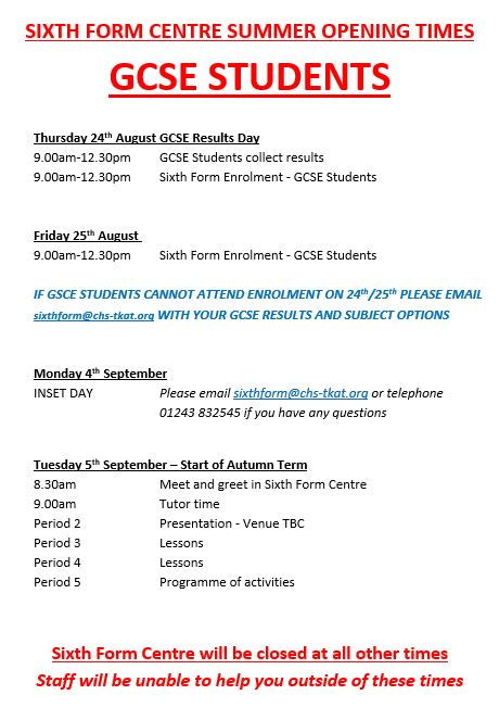 6th form results day poster
