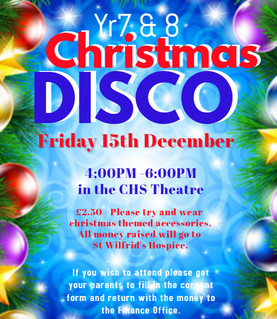 Year 7 and 8 Christmas Disco
