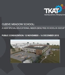 The public consultation is now open! Please give your views on the proposals for Cleeve Meadow School, Sidcup.