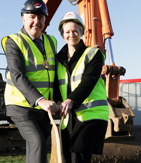 Work begins on the new Cleeve Meadow School