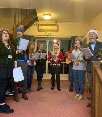 Staff Choir at the Holy Trinity Church Year 5 Carol Concert