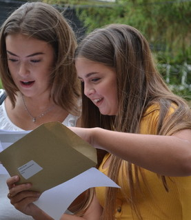 GCSE Results Katie Lambourne and Tilly Cakebread