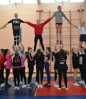 'Cheerathon'  fund raising event for Rainham Rockets