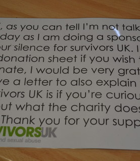 Survivors UK sponsored silence
