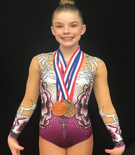 Chloe's gymnastics achievements