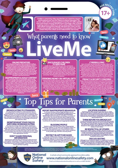 Live me parents guide november 18
