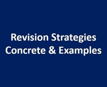 Revision strategies concrete examples