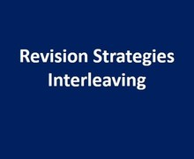 Revision strategies interleaving
