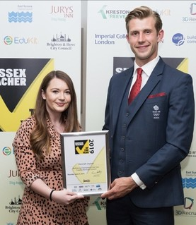 Crawley teacher wins Sussex teacher of the year award